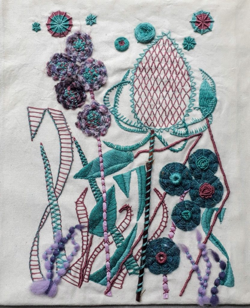 Hand Embroidery Design by Rhiannon Thomas