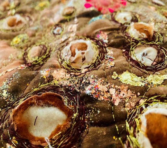 Machine Embroidery Sample by Carol Crichton