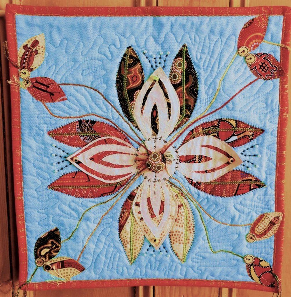 Final Machine Embroidery assessment piece by Lynda Boardman 2020