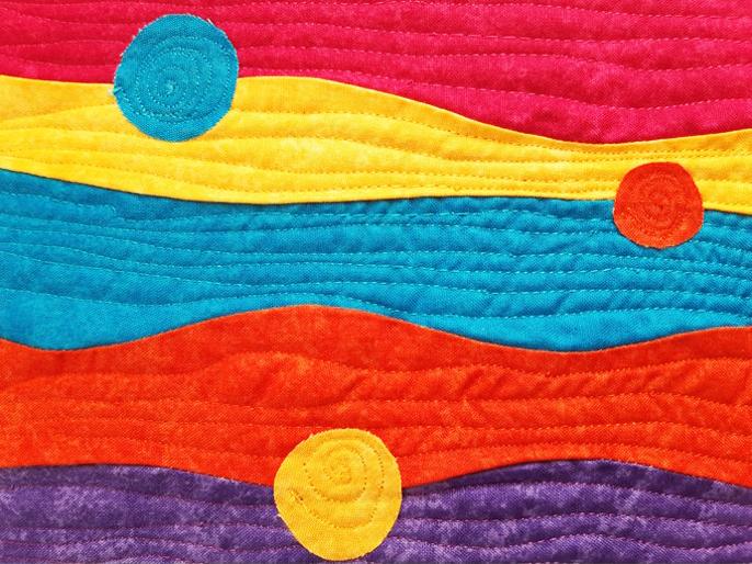 Patchwork quilt, Stephanie Kirkham