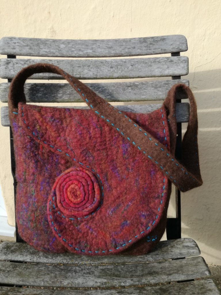 Felt bag, final assessment piece by Wendy Dawson