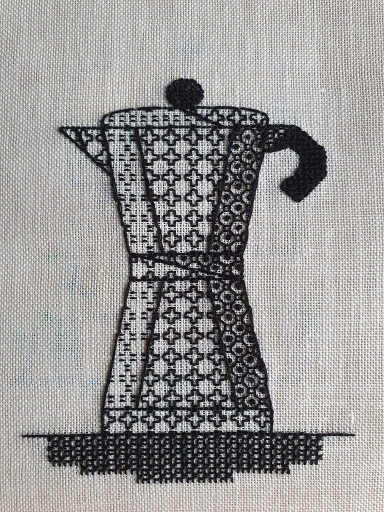 Blackwork by Embroidery Graduate Catherine Bottoms