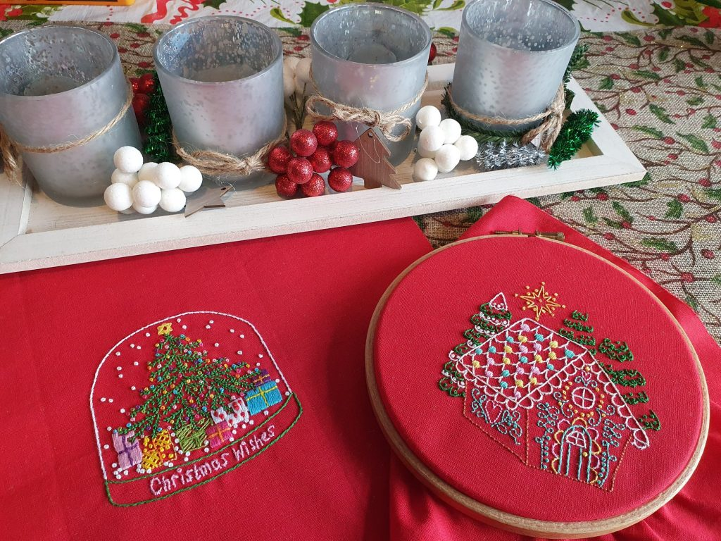 Hand Embroidery work by Catherine Bottoms