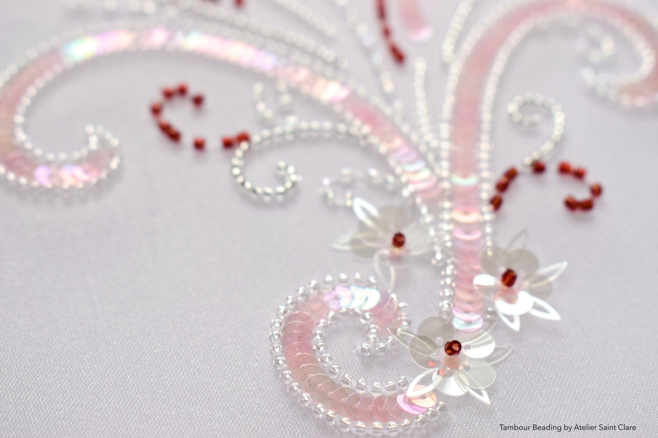 Tambour Beading embroidery