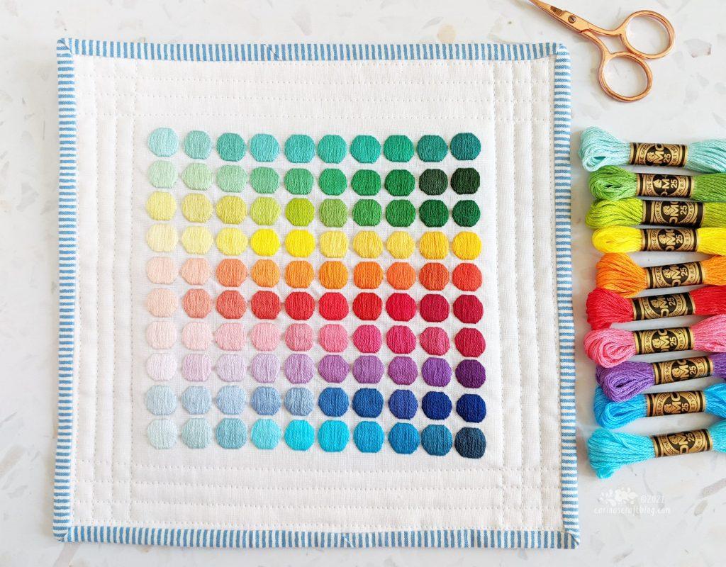 100 Satin Stitch Dots Project by Carina Envoldsen-Harris