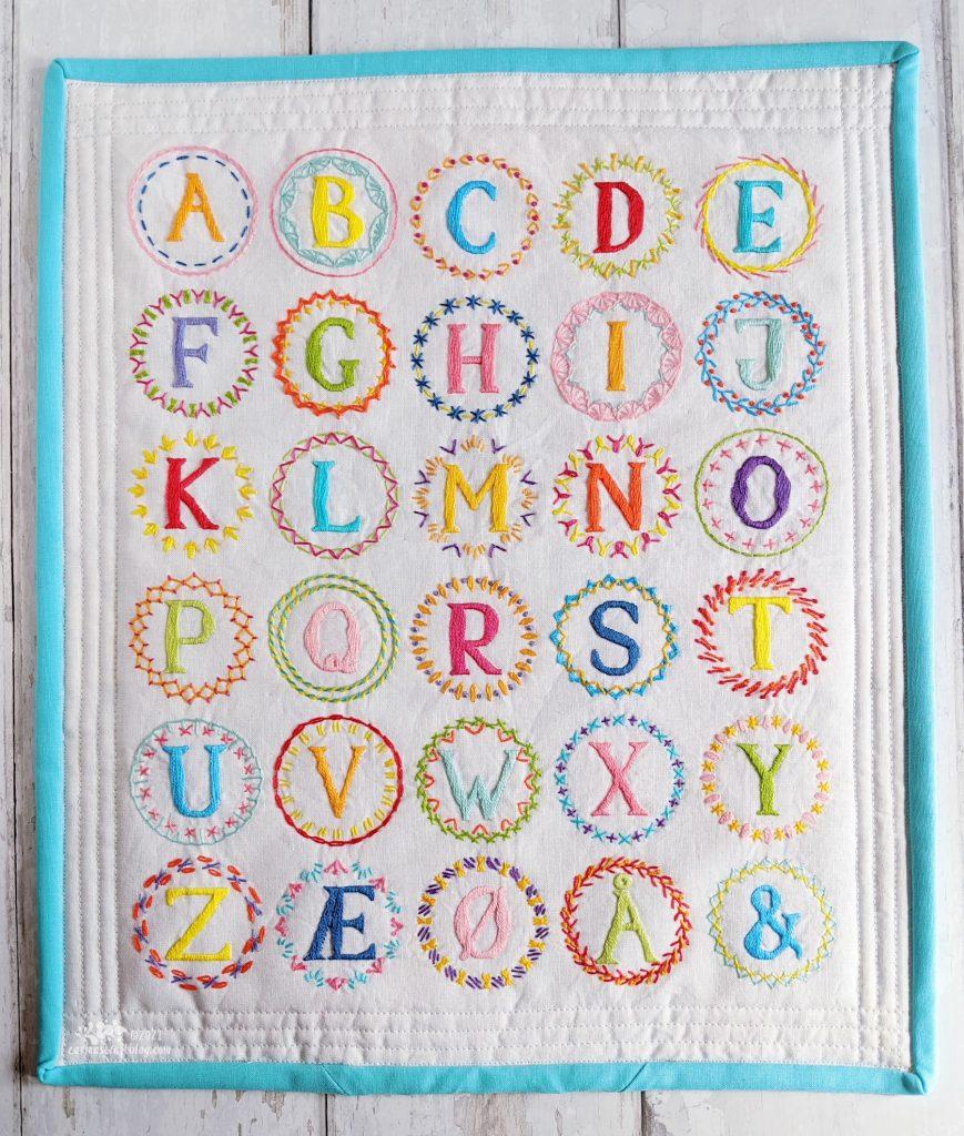 Alphabet Monogram Stitch sampler by Carina Envoldsen-Harris