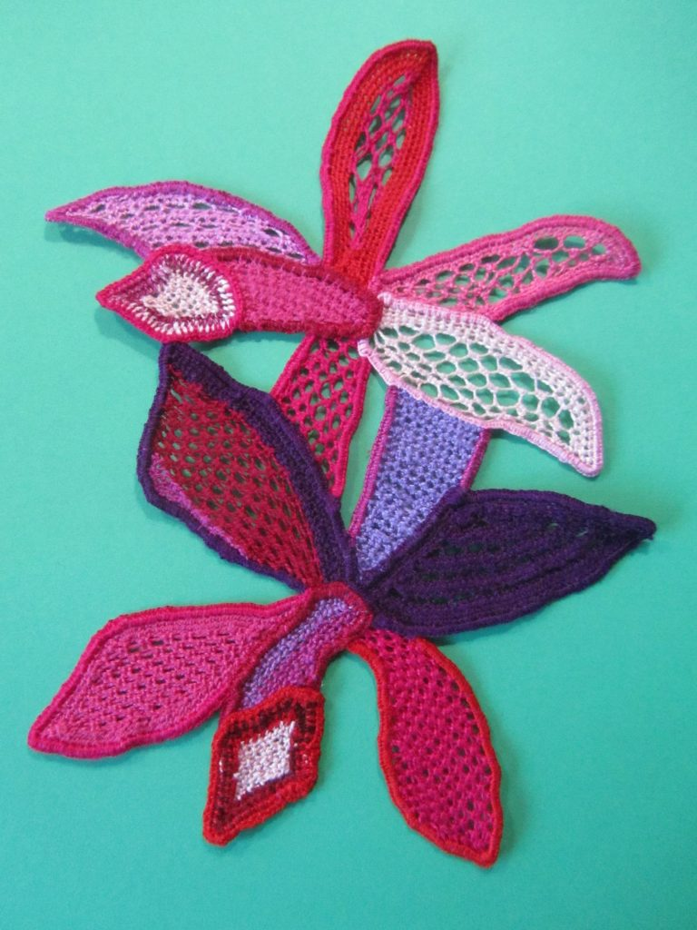 Raised embroidery stumpwork by Wendy Oakley