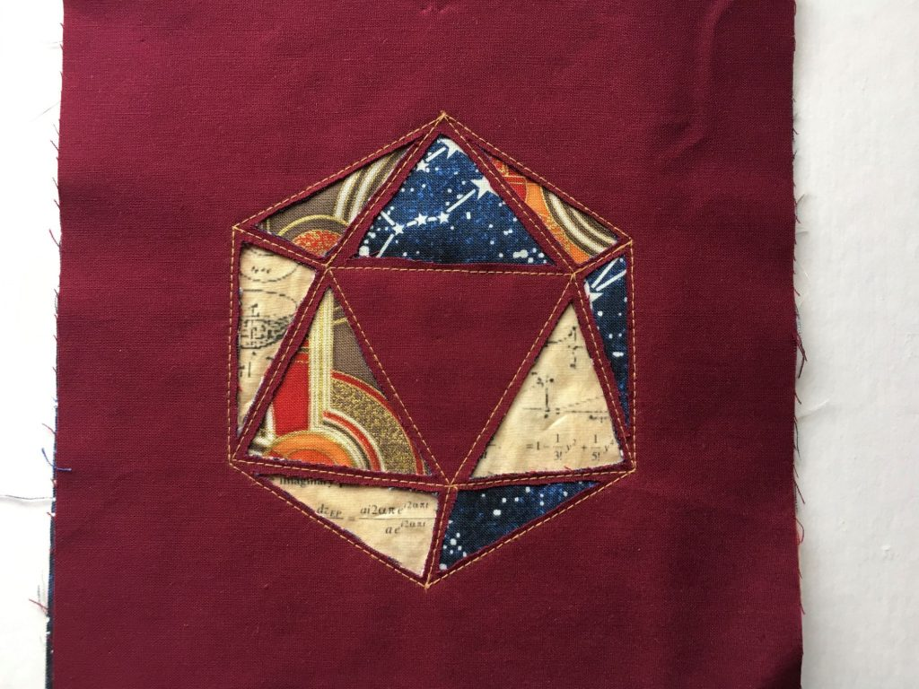Reverse Applique, layered Iconsahedron by Gabrielle Theano