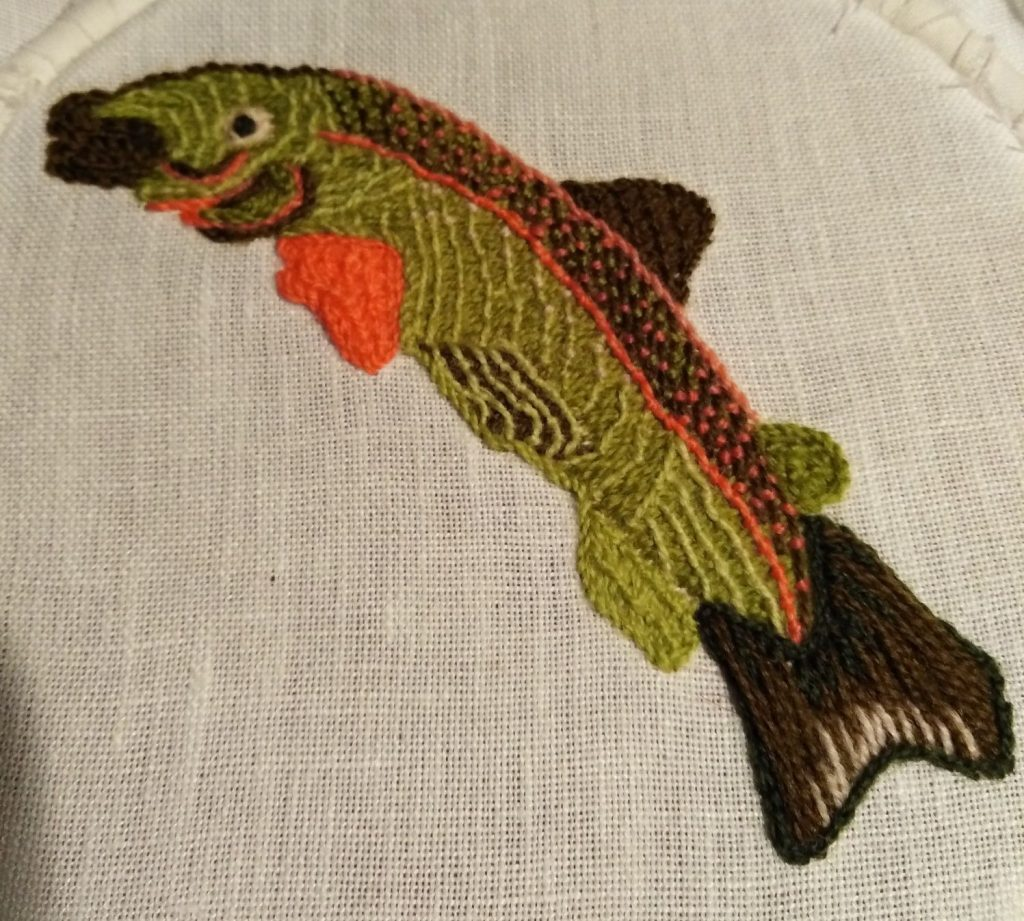 hand Embroidered sample by Sally-Ann Duffy
