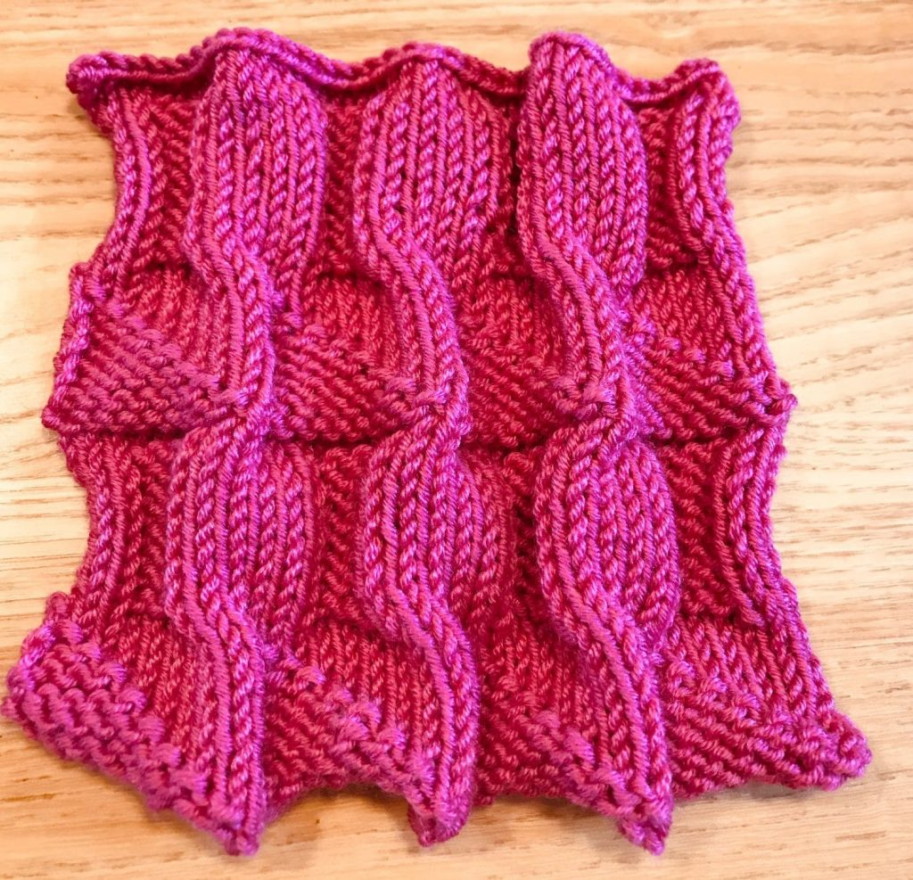 Knitted sample by Susan Rorison