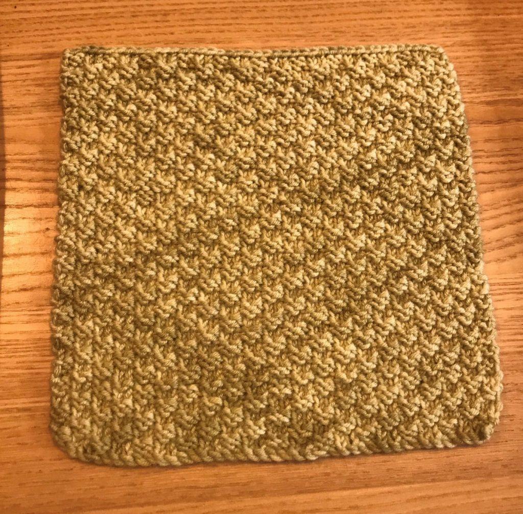 Knitting sample by Susan Rorison