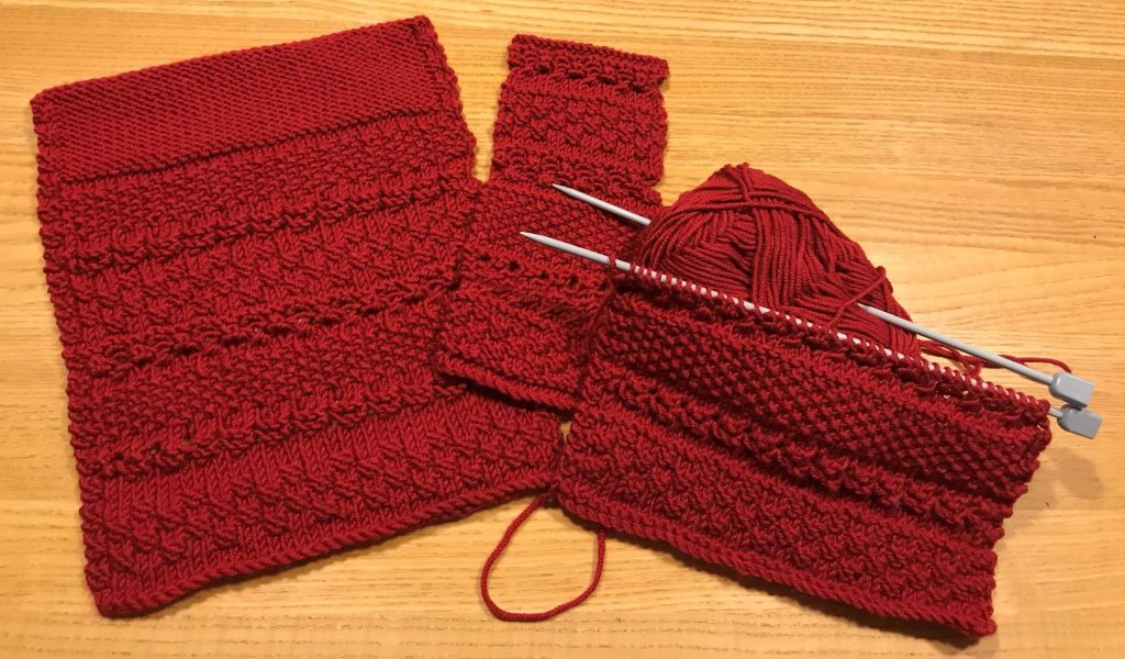 Knitting samples and design by Susan Rorison