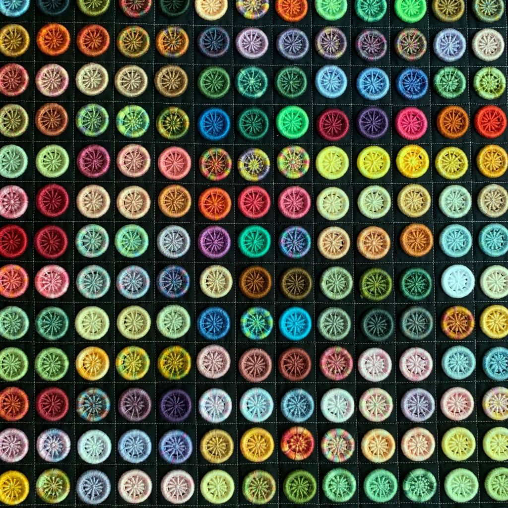 Quilt of Dorset Buttons by Catherine Redford