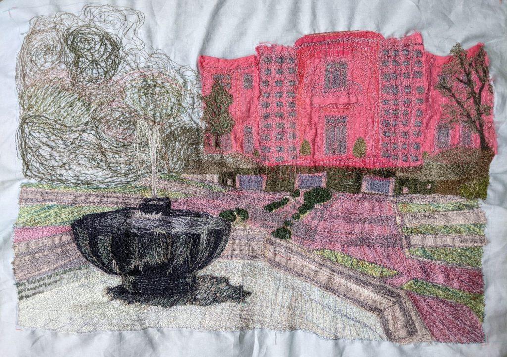Helen Vick, bursary finalist, machine embroidery