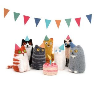 Cat tea party by Lindsey Thomas